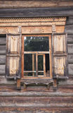 Window of a wooden house Royalty Free Stock Images