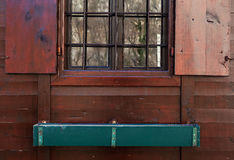 Window of a Wooden House Royalty Free Stock Photography