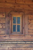Window on the wooden house Stock Photo