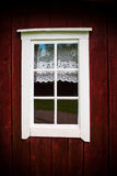 Window in wooden house, Sweden Stock Images