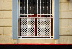 Window with wooden lattice, Cadiz, Andalusia, Spain Stock Image