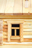 Window of wooden log house Royalty Free Stock Images
