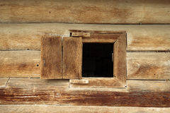 Window in wooden old house Royalty Free Stock Photography