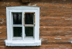 Window of wooden rural house Royalty Free Stock Image