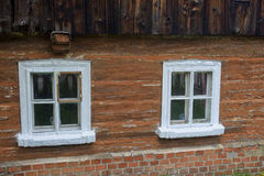 Window of wooden rural house Stock Images