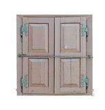 Window with wooden shutters Royalty Free Stock Images