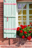 Window with wooden shutters Stock Photos