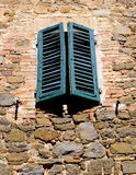 Window with wooden shutters Stock Photography