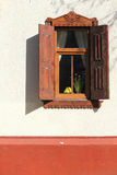 Window with wooden shutters Royalty Free Stock Photography