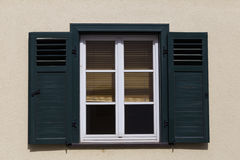 Window with wooden shutters Stock Photo