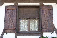Window with wooden shutters Stock Image