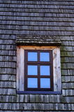 Window and wooden tiles Stock Photos