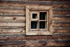 Window in wooden wall Royalty Free Stock Photo