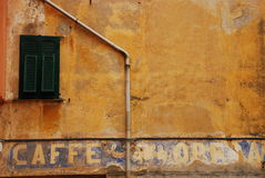 Window with Writing on Wall Royalty Free Stock Photo