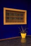 Window yellow planter, Marrakesh Stock Images