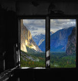 Window Yosemite Valley Royalty Free Stock Images