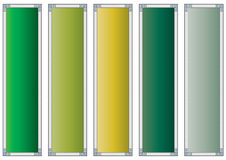 Windowed colorful banners Royalty Free Stock Photos
