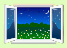 WindowNight Fotografia de Stock