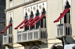 Windows在威尼托房子 免版税图库摄影