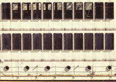 Windows船的舷窗门面 规则背景 库存图片