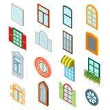 Windows集合 向量 库存照片
