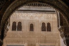 Windows à Alhambra Photo libre de droits
