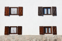 Windows à Burguete Photo stock