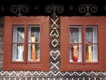 Windows, Čičmany Royalty Free Stock Photos