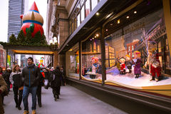 Windows διακοπών NYC Macy Στοκ φωτογραφία με δικαίωμα ελεύθερης χρήσης