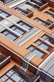 Windows μερών οικοδόμησης τούβλ Στοκ φωτογραφίες με δικαίωμα ελεύθερης χρήσης