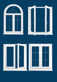 Windows πλαστικών γυαλιών Στοκ φωτογραφία με δικαίωμα ελεύθερης χρήσης