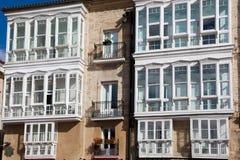 Windows σε Vitoria Στοκ Φωτογραφία