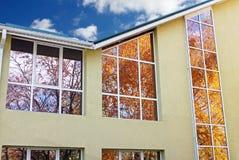 Windows φθινοπώρου Στοκ Φωτογραφίες