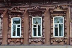 Windows архитектурноакустического и исторического памятника к Tyumen, Стоковые Изображения RF