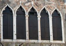 Windows Венеция Стоковые Изображения RF