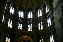 Windows в базилике Frari, Венеции Стоковое фото RF