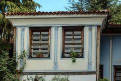 Windows в старом городке Стоковая Фотография