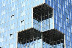 Windows в стеклянной стене Стоковые Фотографии RF