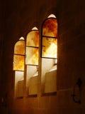 WINDOWS В ЦЕРКОВ УМНОЖЕНИЯ TABGHA, ИЗРАИЛЯ Стоковые Фото