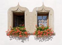 Windows в Швейцарии Стоковая Фотография