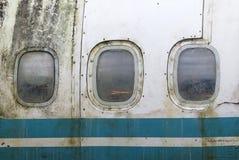 Windows голубого самолета стоковое фото
