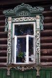 Windows деревенского дома родины Стоковые Изображения