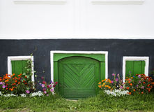 Windows и дверь Стоковые Фотографии RF