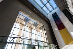 Windows и интерьер Reichstag в Берлине Стоковое Фото