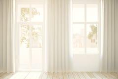 Windows и светлые занавесы Стоковое Изображение RF