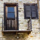 Windows и стены в деревне Lefkara Стоковые Изображения RF