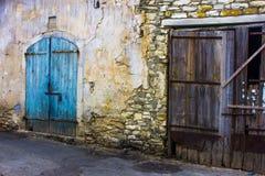 Windows и стены в деревне Lefkara Стоковое Изображение