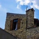 Windows и стены в деревне Lefkara Стоковые Фото