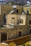 Windows и стены в деревне Lefkara Стоковое Изображение RF