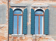 Windows и штарки Стоковое Изображение